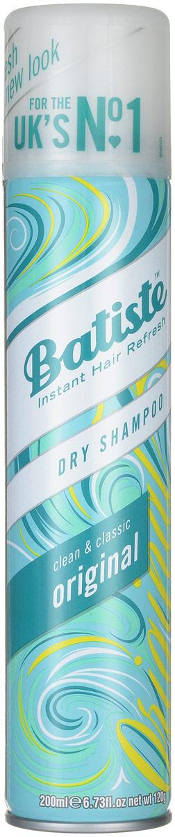 Batiste Сухой шампунь для волос Original, с нежным классическим ароматом, 200 мл503303Сухой шампунь Batiste Original с нежным классическим ароматом быстро очищает и освежает волосы. Сухой шампунь устраняет жирность корней, придавая скучным и безжизненным волосам необходимый блеск, без использования воды. Быстро освежает и повышает силу волос, придает телу волоса и текстуру и оставляет ощущение чистоты и свежести. Сухой шампунь идеален для использования, когда: - у вас нет времени мыть голову обычным шампунем, - у вас много других дел, - ваша жизнь - сплошной круговорот событий. Сухой шампунь быстро и эффективно абсорбирует грязь и жир, тем самым очищая волосы. Способ применения: Шаг 1. Распылите сухой шампунь на волосы на расстоянии 30 см. Шаг 2. Помассируйте голову несколько минут. Во время массажных движений пальцами сухой шампунь проникает в стержень волоса, абсорбирует грязь и жир, тем самым восстанавливая его. Шаг 3. Причешитесь и ваши волосы снова мягкие и чистые. Товар сертифицирован.