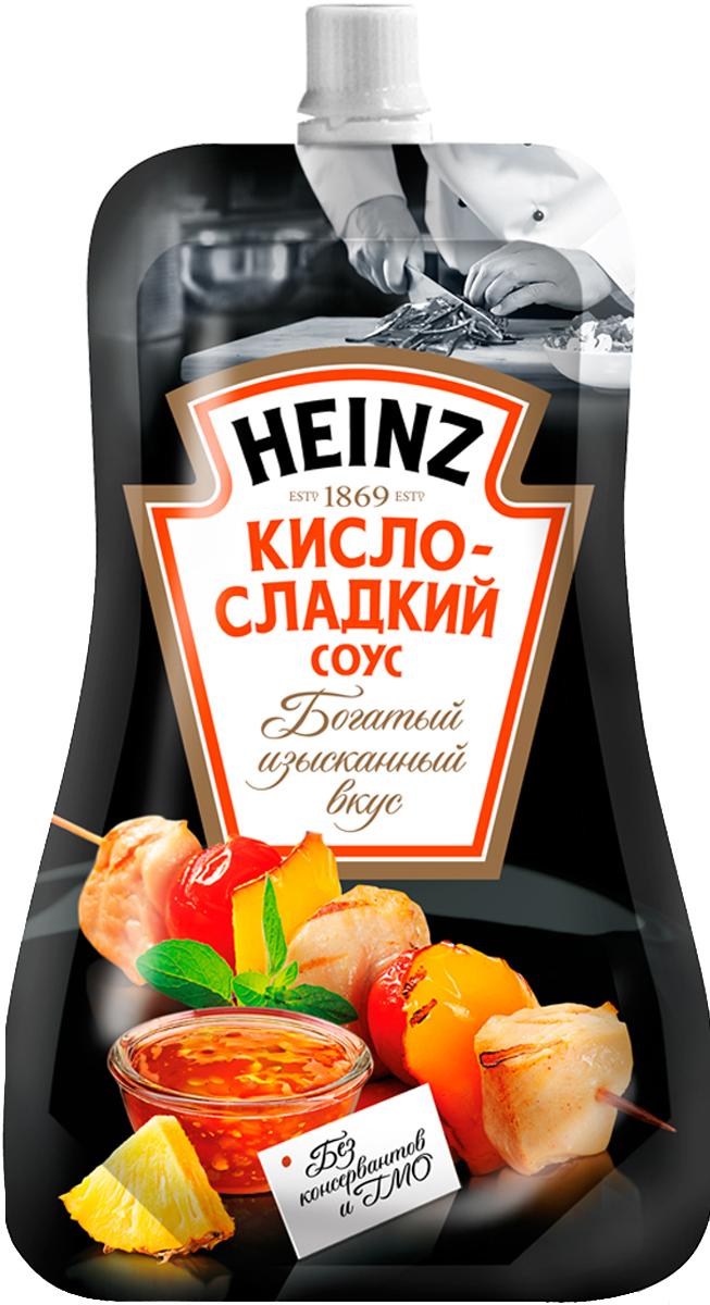 Heinz cоус Кисло-сладкий, 230 г76003474Соус кисло-сладкий от Heinz – это уже готовое к употреблению блюдо, состоящее из томатного пюре, зеленого и красного перца, с добавлением лука, моркови, а особую пикантность данному соусу придает ананасовый сироп, ростки бамбука и ароматные приправы. Добавьте любой ингредиент по своему вкусу (мясо, курицу, овощи, рис или макароны) в основу для горячих блюд от Heinz и вкусный ужин готов!