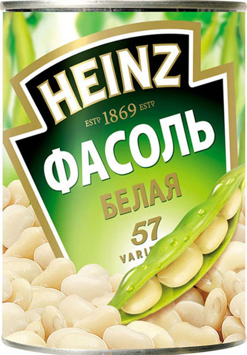 Heinz фасоль белая, 400 г76007179Нежнейшая белая фасоль Хайнц богата витаминами и минералами. Полностью готова к употреблению в качестве гарнира или ингредиента к супу и салату. Не содержит искусственных добавок и отвечает высочайшим стандартам качества.