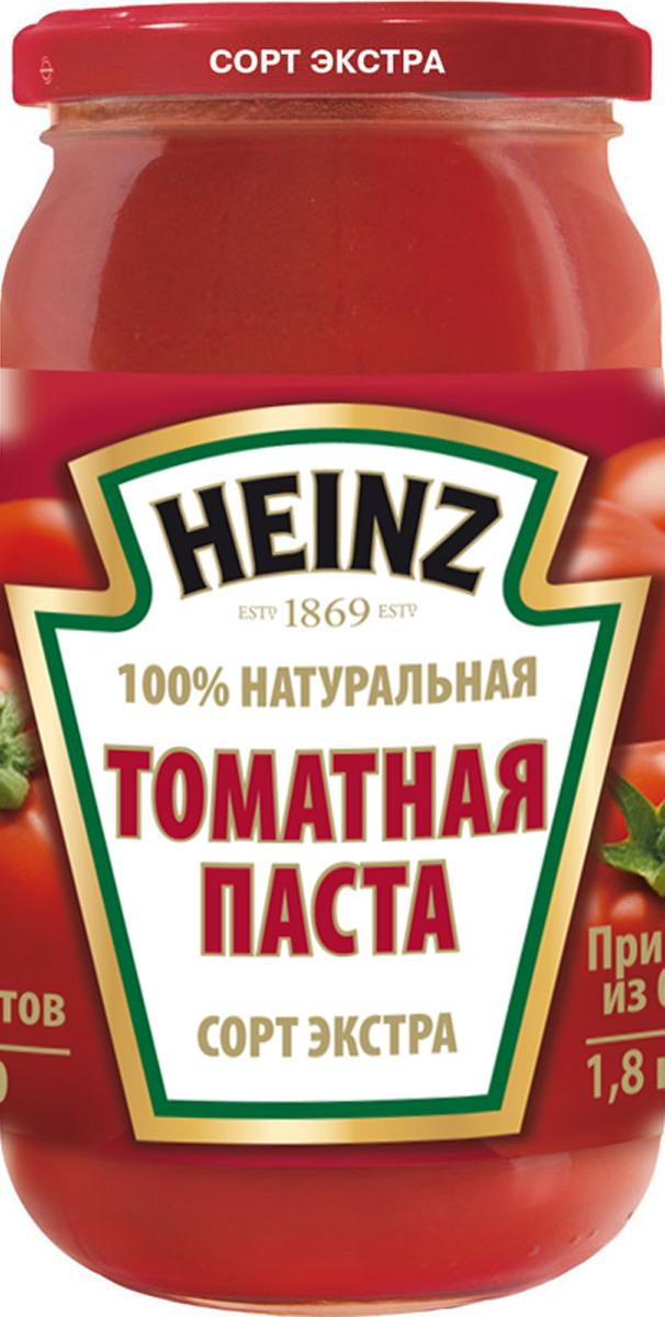 Томатная паста Heinz сорта экстра изготовлена только из спелых помидоров, выращенных с особой заботой и любовью. Поставляется в стеклянной банке 310 гр.