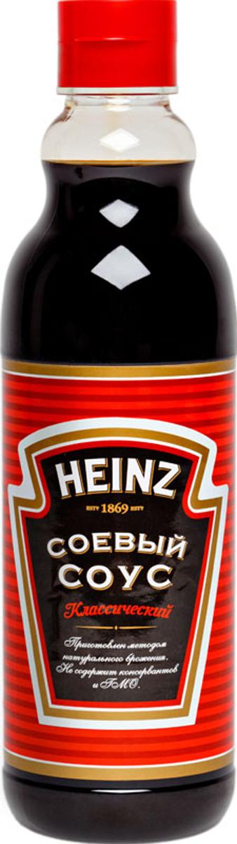 Heinz cоус соевый Классический, 635 мл79000226Традиционный вкус классического соевого соуса Хайнц отлично сочетается с блюдами восточной и европейской кухни. Идеально подходит для суши. Поставляется в пластиковой бутылке 635 мл.