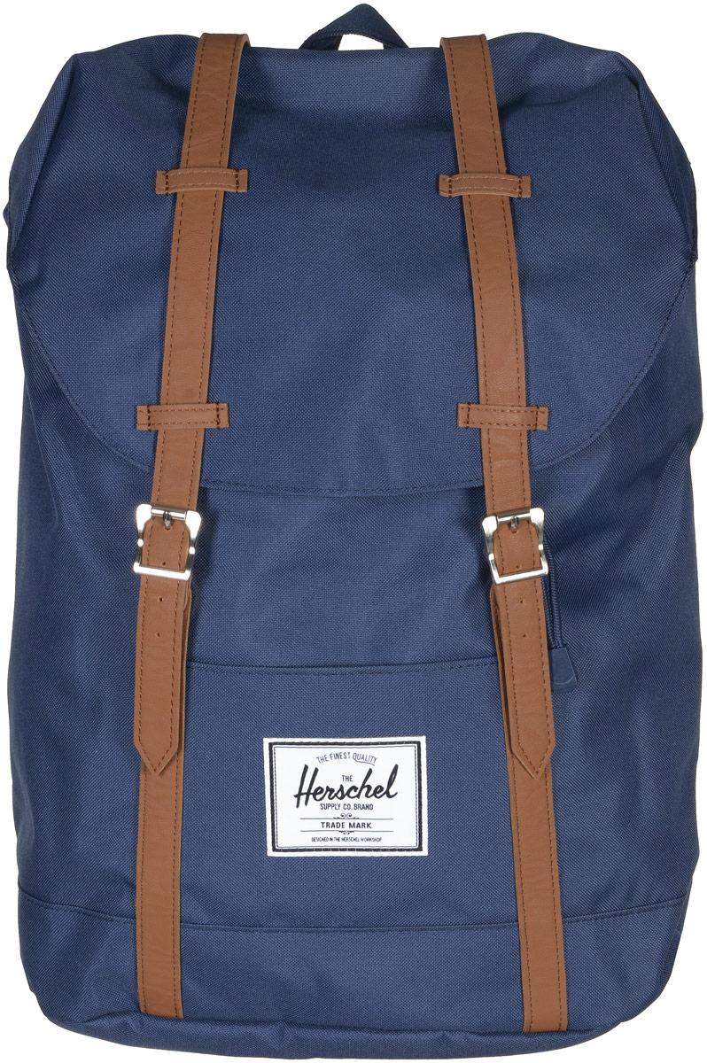 Рюкзак городской Herschel Retreat, цвет: синий, коричневый, 19,5 л10066-00007-OSРюкзак Herschel Retreat - класический дизайн, функциональный и вместительный, урезанная копия модели Little America