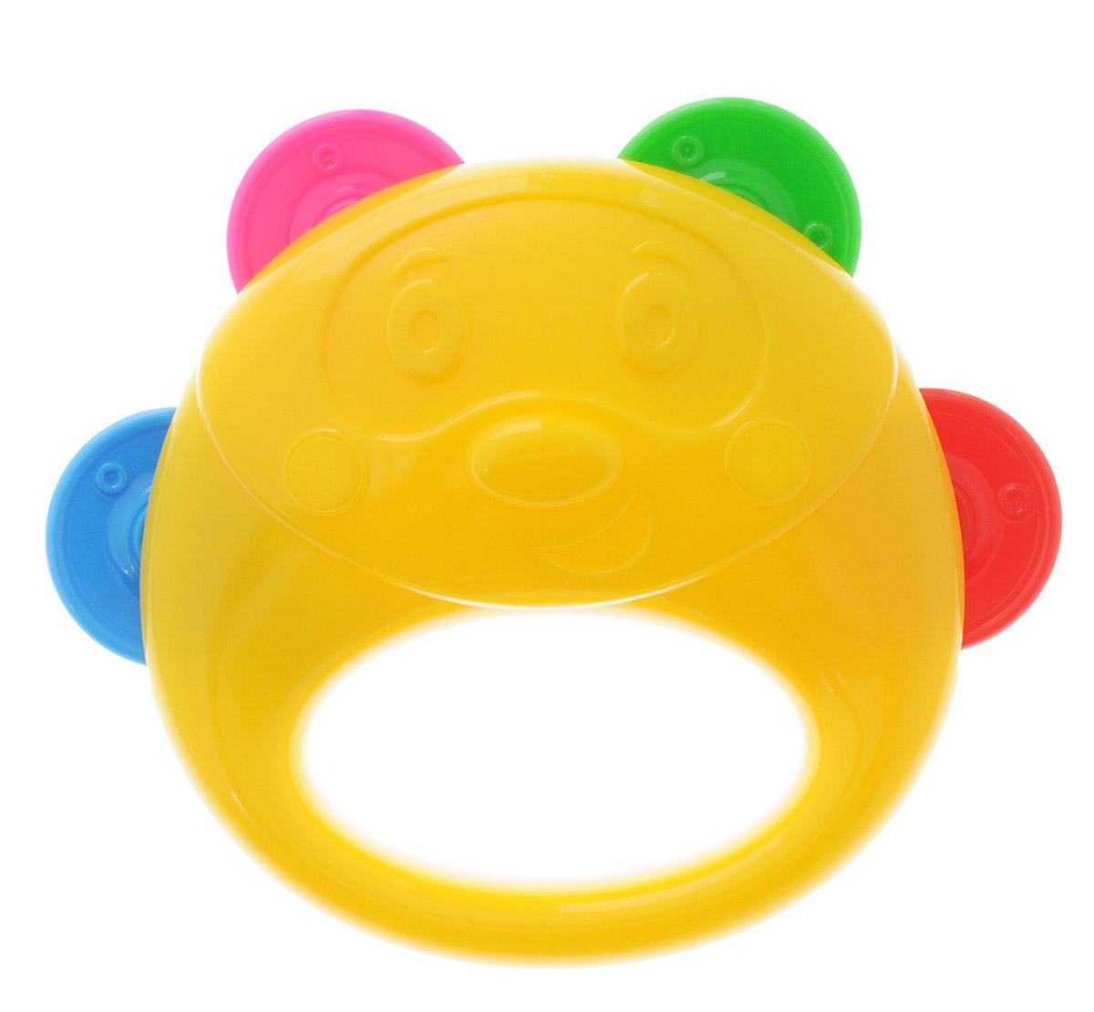 Stellar Бубен цвет белый желтый1914Бубен Stellar - это один из самых первых инструментов, который идеально подойдет для ребенка. Яркий ударный инструмент, по которому ребенок может ударять ладошкой, а также трясти его в ручке. Бубен выполнен из прочного материала и имеет 4 пары разноцветных пластиковых дисков, которые при движении издают приятный звук. Мальчики и девочки смогут аккомпанировать себе во время пения или отбивать ритм, исполняя искрометный танец. Игрушка развивает цветовосприятие, тактильную чувствительность, координацию движений. Формирует зрительно-моторную и зрительно-слуховую координацию.
