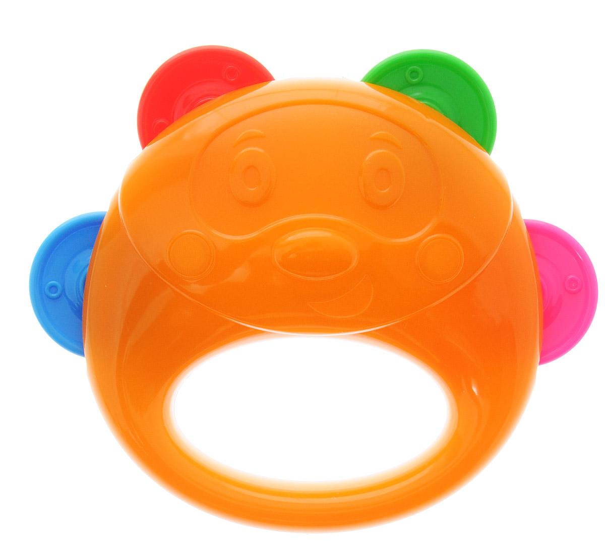Stellar Бубен цвет белый оранжевый1914_белый, оранжевыйБубен Stellar - это один из самых первых инструментов, который идеально подойдет для ребенка. Музыкальный бубен - яркий ударный инструмент, по которому ребенок может ударять ладошкой, а также трясти его в ручке. Бубен выполнен из прочного материала и имеет 4 пары разноцветных дисков, которые при движении издают приятный звук. Бубен в виде симпатичного медвежонка поможет ребенку развить слух и чувство ритма. Мальчики и девочки смогут аккомпанировать себе во время пения или отбивать ритм, исполняя искрометный танец.