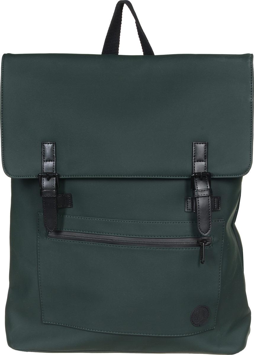 Рюкзак городской муж Fred Perry Matte Pu Back Pack, цвет: хаки. L9215-426. Размер 43 x 34 x 11,5 смL9215-426