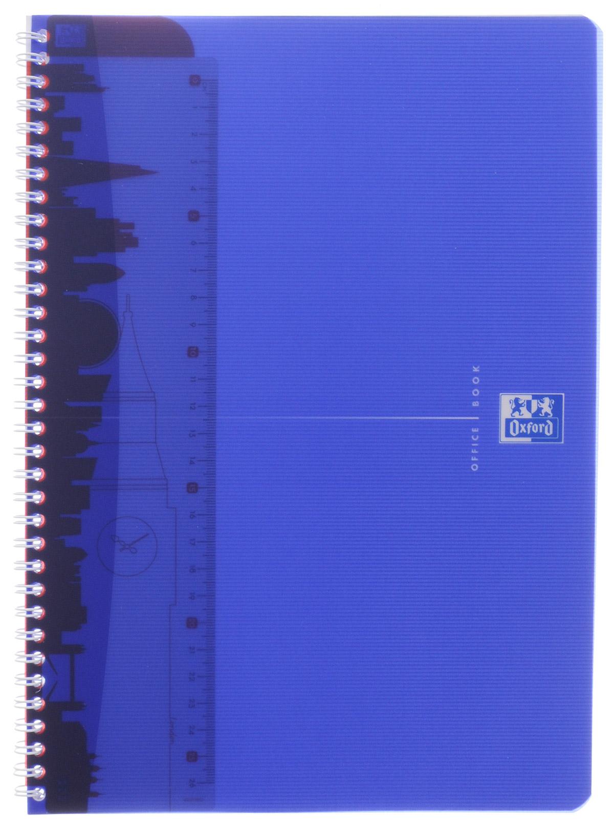 Oxford Тетрадь My Colours 50 листов в клетку цвет синий