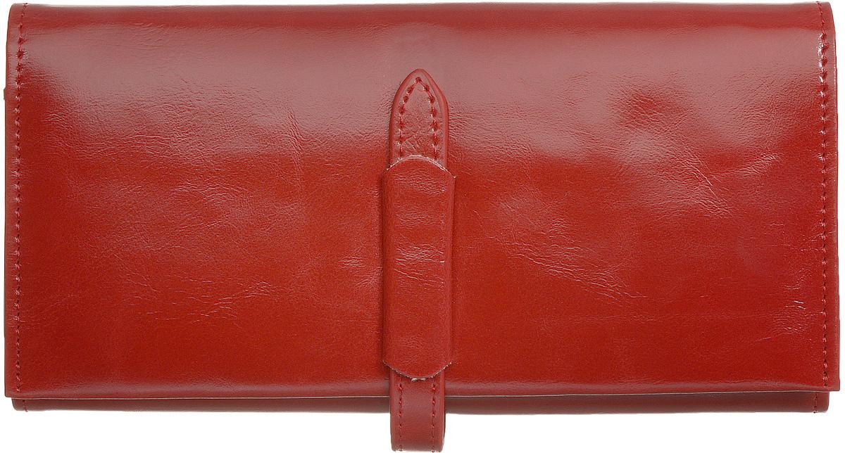 Кошелек женский Kawaii Factory Классика, цвет: красный. KW057-000550KW057-000550Классический полнокупюрный кошелек Классика от Kawaii Factory прекрасно впишется в любой стиль. Внутри он состоит из 3 отделений для купюр, 12 кармашков для карточек и визиток и кармашка для фото. Кошелек также оснащен внешним прорезным карманом для мелочей, отделением для мелочи на застежке-молнии и скрытым карманом. Изделие закрывается на хлястик с фиксатором. Женский кошелек Классика отличается строгим эргономичным дизайном и универсальностью. Если вам нравится сдержанность стиля и лаконичность в деталях, такой аксессуар обязательно должен быть в списке ваших вещей.