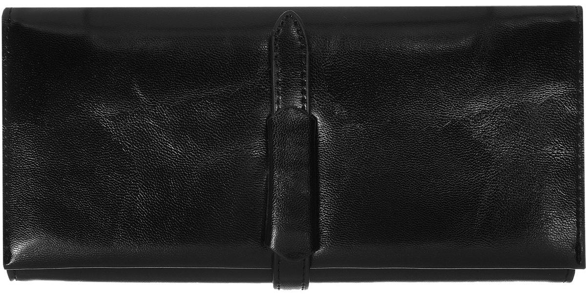 Кошелек женский Kawaii Factory Классика, цвет: черный. KW057-000551KW057-000551Классический полнокупюрный кошелек Классика от Kawaii Factory прекрасно впишется в любой стиль. Внутри он состоит из 3 отделений для купюр, 12 кармашков для карточек и визиток и кармашка для фото. Кошелек также оснащен внешним прорезным карманом для мелочей, отделением для мелочи на застежке-молнии и скрытым карманом. Изделие закрывается на хлястик с фиксатором. Женский кошелек Классика отличается строгим эргономичным дизайном и универсальностью. Если вам нравится сдержанность стиля и лаконичность в деталях, такой аксессуар обязательно должен быть в списке ваших вещей.