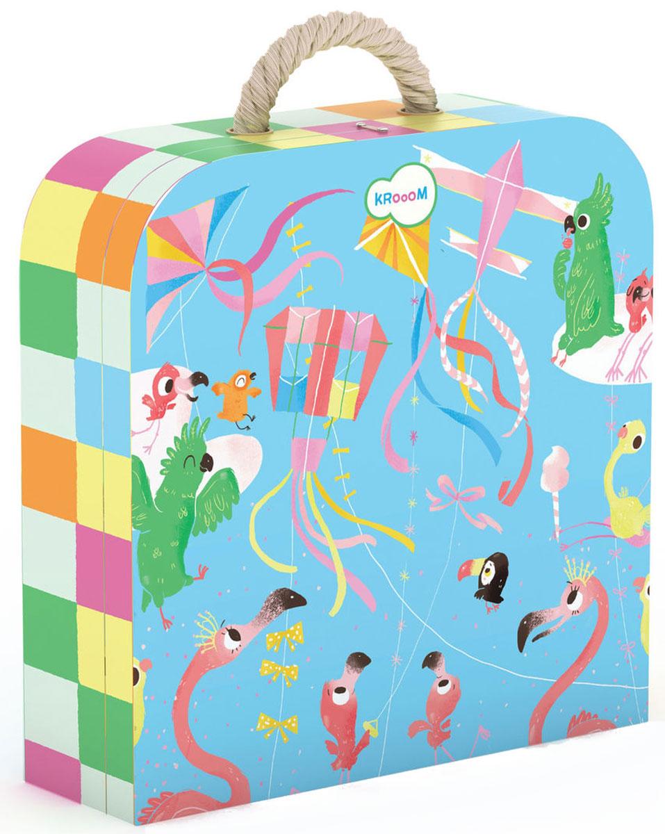 Krooom Пазл для малышей Воздушные змеиk-603Красочный пазл Krooom Воздушные змеи - наилучшее решение для развития вашего малыша. Собирая картинку из 45 элементов, малыш учится соотносить отдельные элементы в целое изображение, подбирать фрагменты по цвету и форме. На этом удивительном пазле изображены яркие воздушные змеи и птицы невиданной красоты. Попробуйте его собрать и убедитесь в этом сами. Пазл поможет развить у малыша мелкую моторику рук, цветовосприятие, воображение и логическое мышление, научит видеть большое в малом. Вознаграждением за усердие будет красивая картинка.