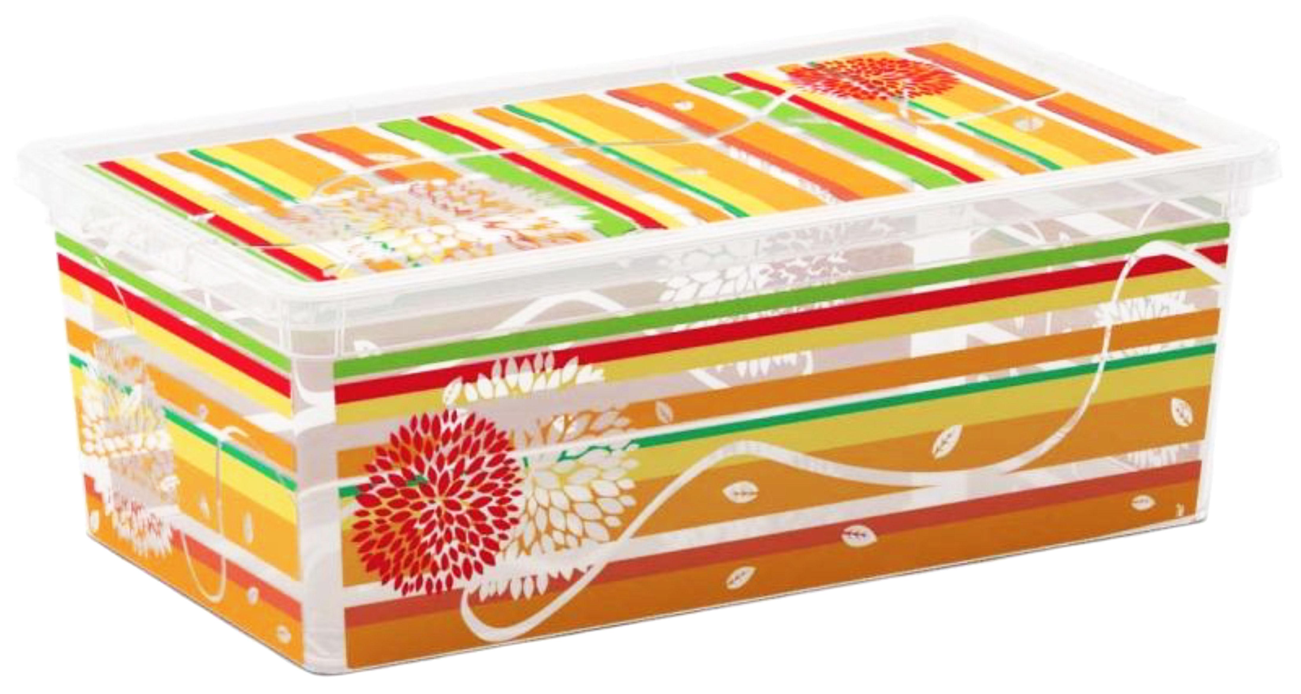 Контейнер для хранения ABM Цветы и полоски, 5 лAB08407SFБезопасны для здоровья, не токсичны, не имеют запаха, не вызывают аллергических реакций.Контейнеры TM KIS (A.B.M., Италия) изготовлены из полипропилена, пригодного и для контакта с пищевыми продуктами.
