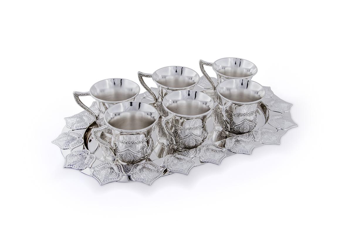 Чашки в наборе Rosenberg, 7 предметов. 230377.858@19975чашки в наборе, 7 предметов: размер подноса 28.5 х 17.5 см, чашка 60мл