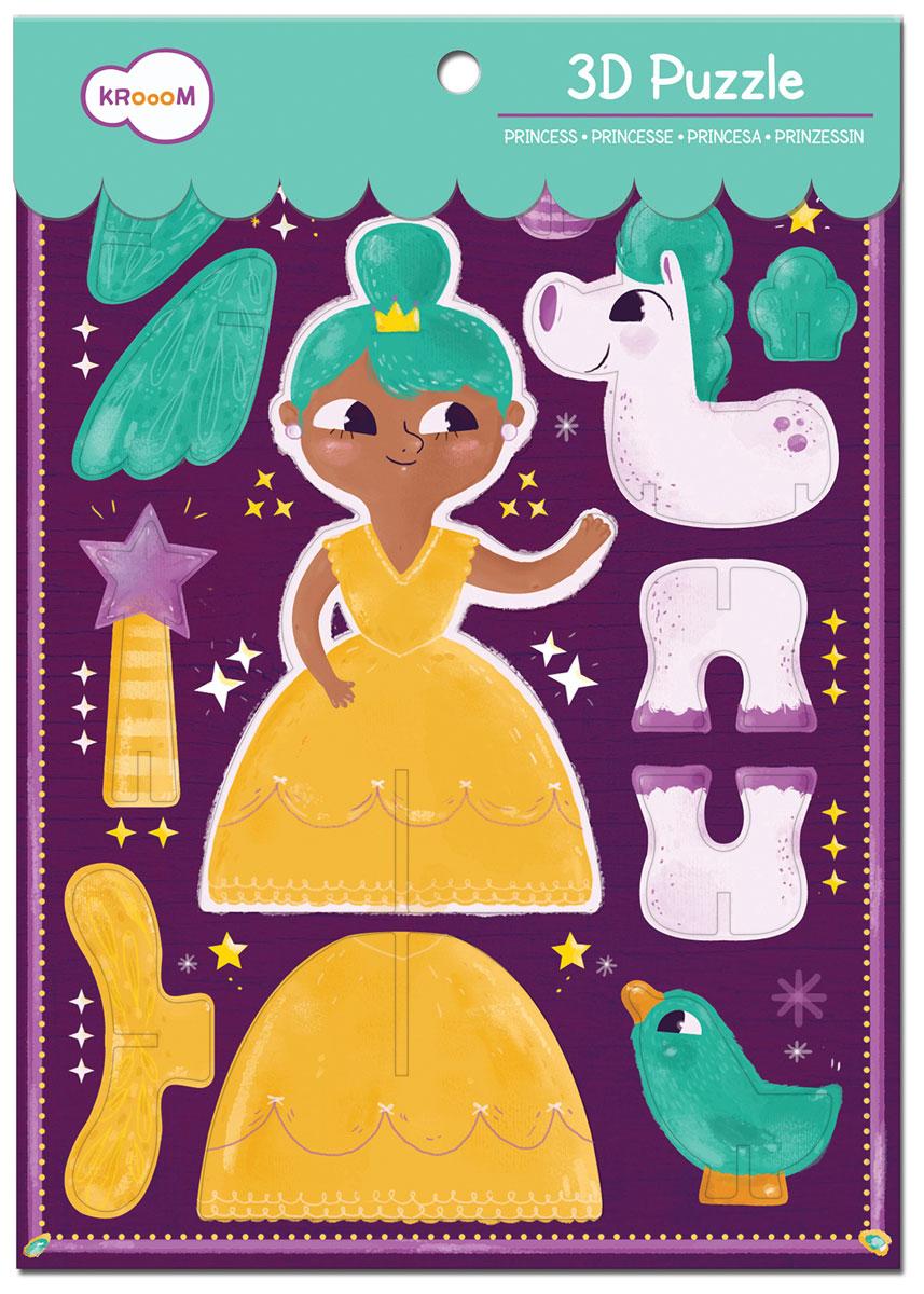 Krooom 3D пазл Принцессаk-702Красочный 3D пазл Krooom Принцесса - наилучшее решение для развития вашего малыша. 3D пазл дает возможность вашему ребенку самостоятельно собрать объемные фигурки принцессы, единорога и птички. Собирая пазл, малыш учится соотносить отдельные элементы в целое изображение, подбирать фрагменты по цвету и форме. Пазл поможет развить у малыша мелкую моторику рук, цветовосприятие, воображение и логическое мышление, научит видеть большое в малом. Вознаграждением за усердие будут красивые фигурки.
