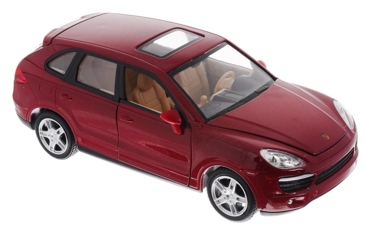 MSZ Модель автомобиля Porsche Cayenne S цвет красныйCP-68241A_красныйПотрясающая модель автомобиля MSZ Porsche Cayenne S - это точная копия оригинальной машины в масштабе 1:24. Модель обязательно придется по душе и детям, и взрослым. Игрушечная модель оснащена металлическим корпусом и подвижными колесами. Передние двери машинки и багажник открываются, салон детализирован. Модель дополнена световыми и звуковыми эффектами. Если машинку отвести назад, то будут издаваться звуки мотора. Прорезиненные колеса обеспечивают надежное сцепление с любой поверхностью пола. Машинка является отличным подарком для юного гонщика. Во время игры с такой машинкой у ребенка развивается мелкая моторика рук, фантазия и воображение. Рекомендуется докупить 3 батарейки типа LR44 (товар комплектуется демонстрационными).