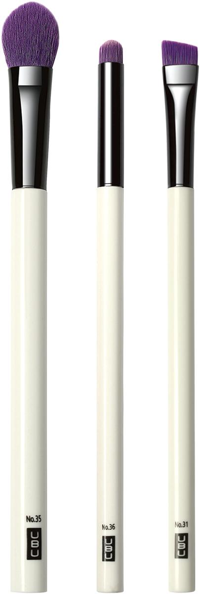 UBU Набор кистей для создания эффекта Smokey Eye, 3 шт. 19-506419-5064_белый, розовый