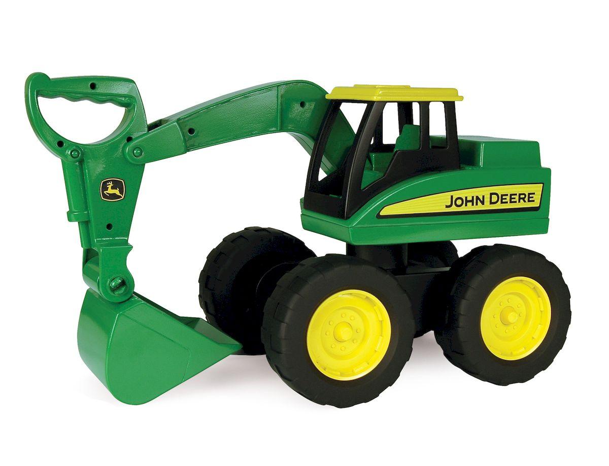 Tomy Большегрузный экскаватор John Deere35765Большегрузный экскаватор Tomy John Deere - близкая к настоящему копия машины для ухода за фермой. Экскаватор изготовлен из высокотехнологичного и прочного пластика. Подвижный ковш экскаватора снабжен удобной ручкой для поднимания и опускания. Большие и подвижные колеса делают его способным передвигаться по разным поверхностям. Сюжетно-ролевые игры с участием строительной техники помогут развить у ребенка фантазию и логическое мышление.