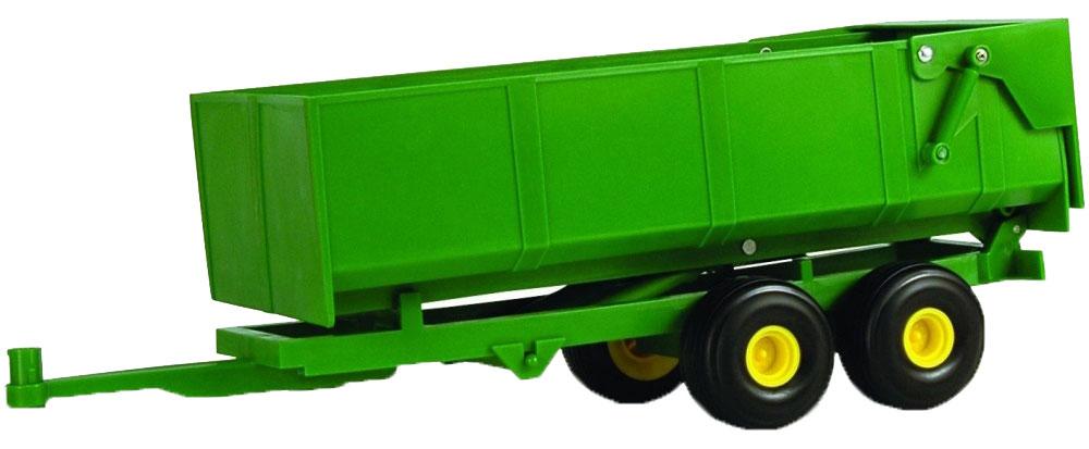 Tomy Прицеп для самосвала Big Farm Bulk Tipping Trailer цвет зеленый42428Прицеп для самосвала — оригинальное игровое дополнение, которое особо порадует мальчишек. Оснащен четырьмя подвижными колесиками. В передней части прицепа находится крепление-крючок за который его возможно прикрепить к фаркопу автомобиля. Изготовлен из качественного пластика.