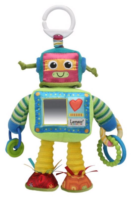 Tomy Игрушка-подвеска Робот РастиLC27089Расти выглядит как настоящий робот, и несомненно понравится малышу с первых минут. Мягкая игрушка-подвеска выполнена из ярких тканей высшего качества, различных по текстуре и цвету. На передней части игрушки имеется небольшое безопасное зеркальце, которое поможет малышу в познании себя и окружающего мира. В обеих руках Расти держит по паре рельефных колечек, которые весело гремят. Ножки робота сшиты из шелестящей ткани. Голова Расти вращается, как у настоящего робота.