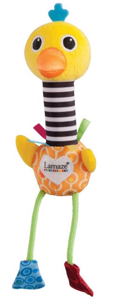 Tomy Развивающая игрушка Веселый СтраусLC27612Веселый Страус имеет идеальный размер и вес для младенцев, чтобы удержать игрушку в руке. Если потрясти игрушку, она будет издавать звуки. Игрушка помогает развивать мелкую моторику, сенсорные навыки и координацию. Яркие цвета тренируют визуальные навыки ребенка.