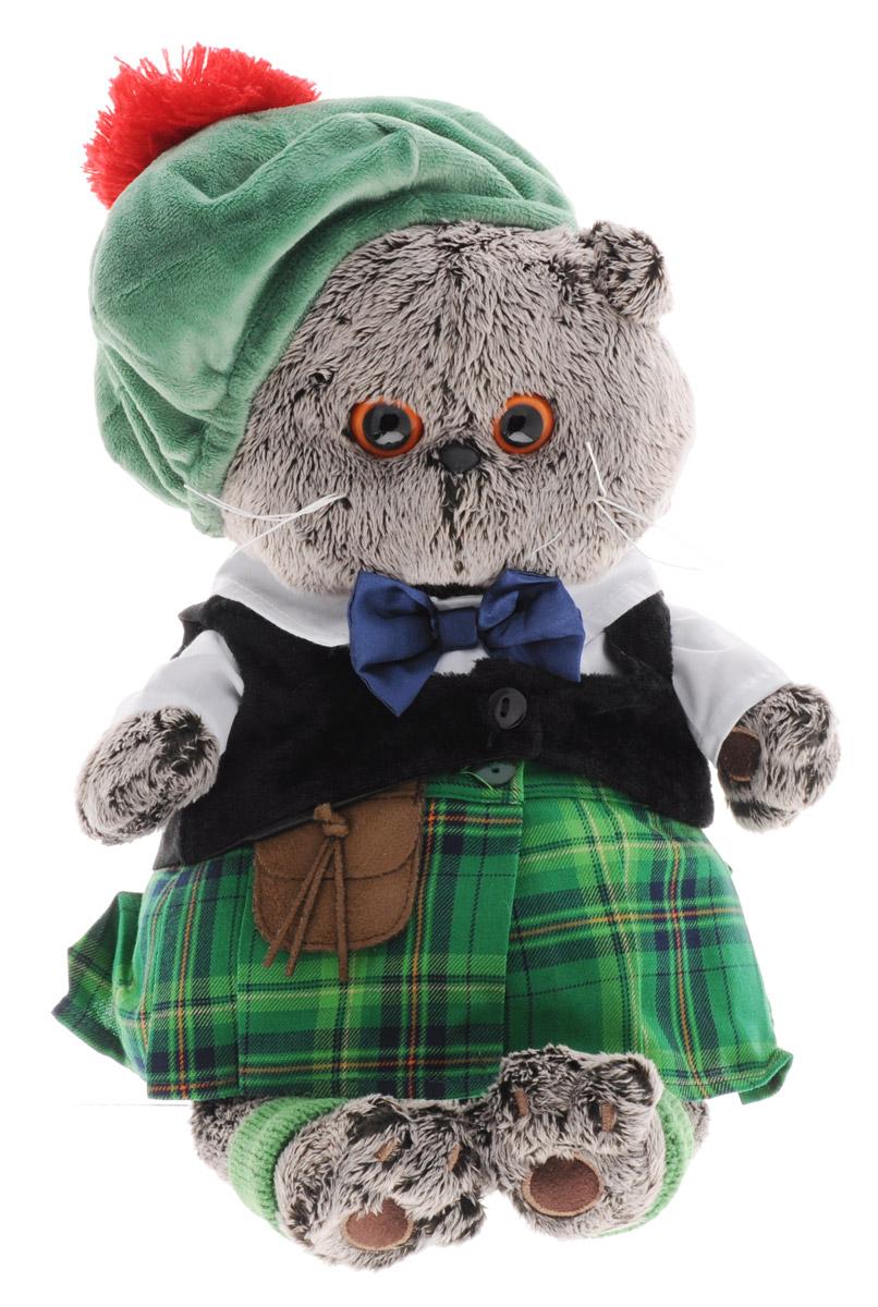 Мягкая игрушка Басик в шотландском костюме 25 смKs25-047Мягкая игрушка Басик в шотландском костюме подарит малышу немало прекрасных мгновений. Дети очень трепетно относятся к домашним животным, особенно они любят котов, собак и часто просят своих родителей приобрести им такого друга. Однако домашние питомцы не всегда хорошо влияют на детей - они могут поцарапать и даже вызвать аллергическую реакцию, поэтому приходят на помощь мягкие игрушки, очень похожие на настоящих питомцев. С этим шотландским вислоухим котиком можно играть, отдыхать и засыпать в обнимку, рассказывая свои секреты. У него густая плюшевая шерстка, которую так приятно гладить. У Басика круглые медовые глазки, маленькие ушки и черный носик. Дело было так. У любимой бабушки Басика случился юбилей. Бабуле много исполнилось лет. Не будем говорить сколько, потому что это неприлично - раскрывать возраст дам. А бабуля у Басика - очень титулованная шотландская вислоухая кошка. Понятно, что вся семья Басика собралась в Шотландию. Нужно было выглядеть достойно. А достойно...
