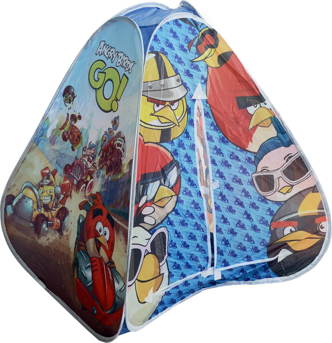 1TOY Детская игровая палатка Angry Birds Go в сумке 90 х 80 х 80 смТ57507Играть дома или на природе лучше с индивидуальным детским домиком. А если этот домик оформлен в стиле такой любимой малышом игры, то и вовсе, нет ему цены. Он может захватить внимание малыша, при этом он лёгкий в переноске и воздухопроницаемый. Даже если всё время на природе малыш проведёт в нём, он подышит свежим воздухом.