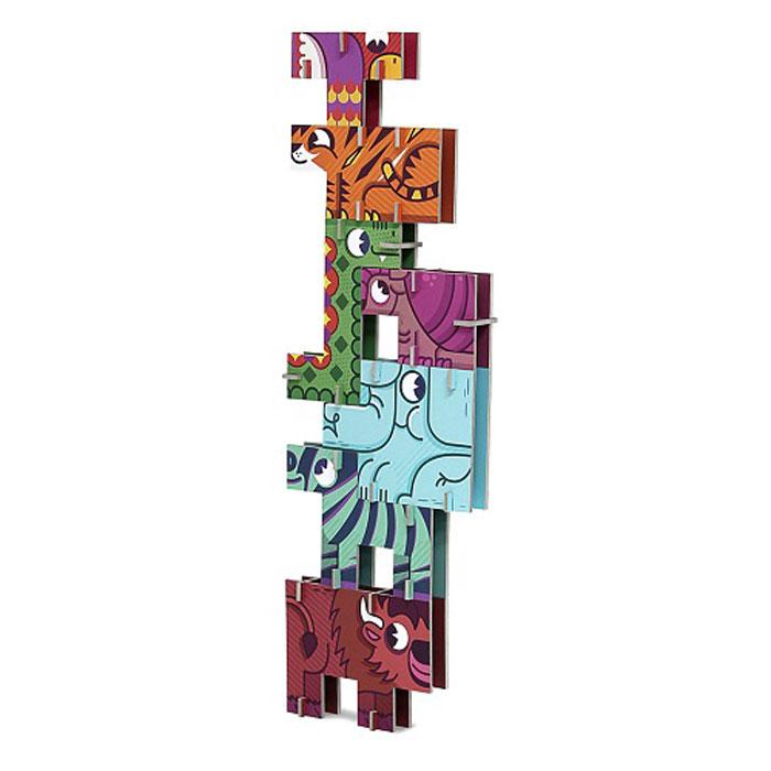 Krooom 3D пазл Сафариk-800Красочный 3D пазл Krooom Сафари - наилучшее решение для развития вашего малыша. Соберите фигурку из семи животных и начните ваше приключение! Постарайтесь построить самую высокую башню. Если хотите, вы можете собрать квадратную головоломку внутри коробки. Будьте аккуратны и подумайте! Только одна комбинация будет верной! Собирая пазл, малыш учится соотносить отдельные элементы в целое изображение, подбирать фрагменты по цвету и форме. Пазл поможет развить у малыша мелкую моторику рук, цветовосприятие, воображение и логическое мышление, научит видеть большое в малом. Вознаграждением за усердие будут красивые фигурки.