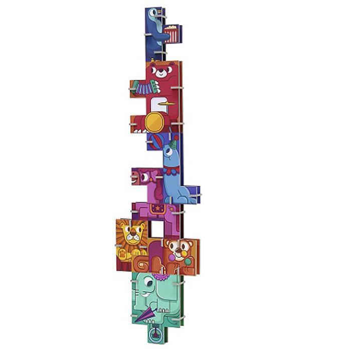 Krooom 3D пазл Циркk-801Красочный 3D пазл Krooom Цирк - наилучшее решение для развития вашего малыша. Соберите фигурку из семи животных и начните ваше приключение! Постарайтесь построить самую высокую башню. Если хотите, вы можете собрать квадратную головоломку внутри коробки. Будьте аккуратны и подумайте! Только одна комбинация будет верной! Собирая пазл, малыш учится соотносить отдельные элементы в целое изображение, подбирать фрагменты по цвету и форме. Пазл поможет развить у малыша мелкую моторику рук, цветовосприятие, воображение и логическое мышление, научит видеть большое в малом. Вознаграждением за усердие будут красивые фигурки.
