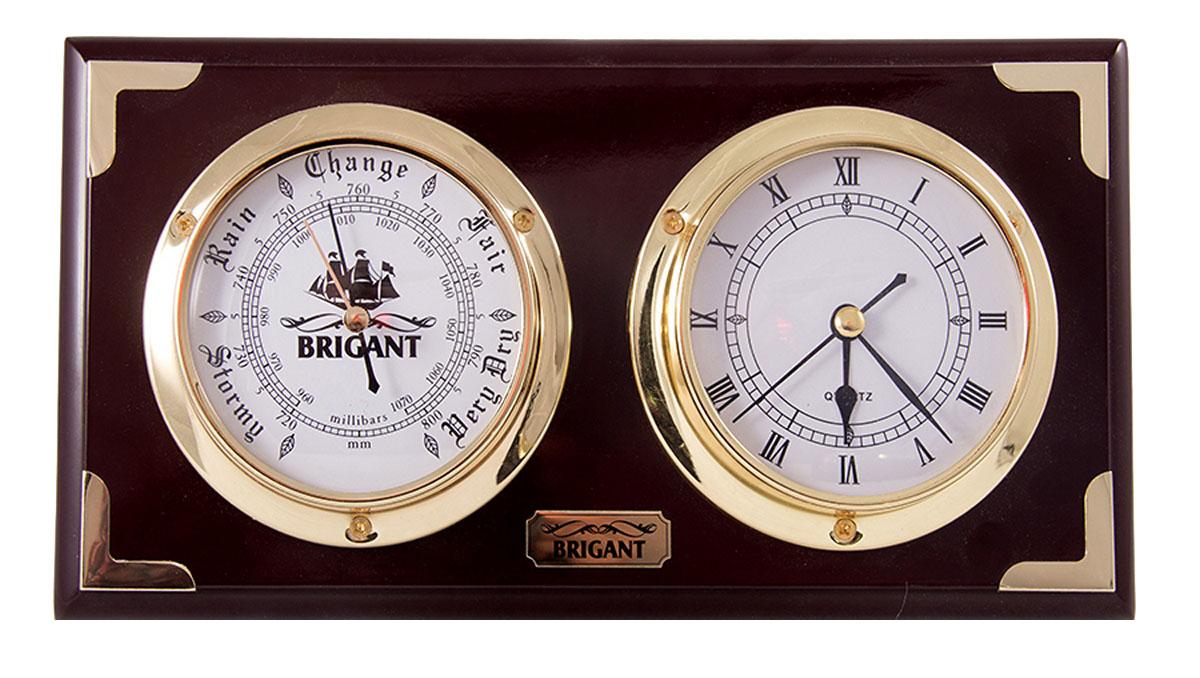 Часы-барометр Brigant, цвет: красное дерево, 31х17 см. 2811028110