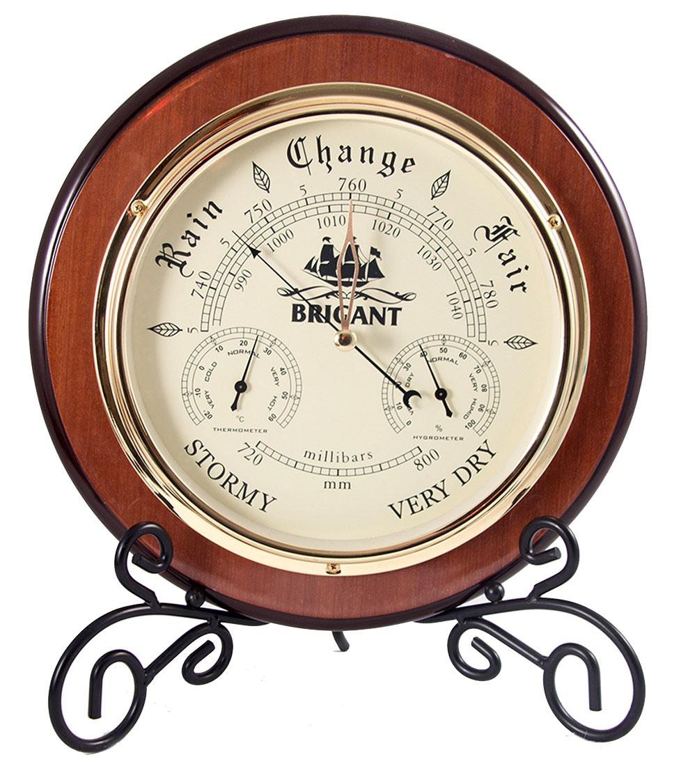Барометр-метеостанция настольная Brigant: барометр, термометр, гигрометр, 29х29х6 см. 2815028150