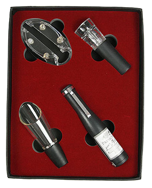 Набор сомелье Русские Подарки, 22 х 17 х 3 см. 5764257642Набор сомелье Русские Подарки состоит из 4 предметов. Универсальный нож-штопор-открывалка выполнен в виде бутылки вина. Также в набор входят: нож для срезания оплетки (фольги), пробка-лейка, вакуумная пробка. Предметы набора надежно крепятся в определенном положении благодаря особым выемкам. Такой набор отлично подойдет в качестве делового подарка любителю вин, а также подчеркнет вкус его обладателя. Правила ухода: мыть теплой водой, не применять абразивные чистящие средства.