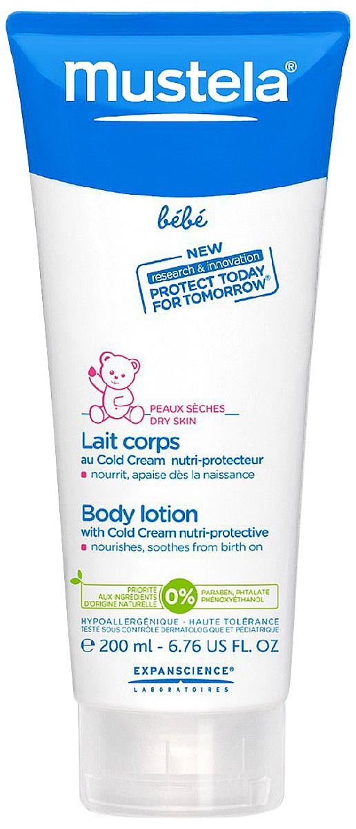 Mustela Молочко для тела защитное с кольд-кремом для детей всех возрастов 200 млМ020/G153Назначение: Разработано для ухода за сухой и подверженной внешним воздействиям кожей. Подходит для детей с рождения. Разработано для минимизации риска аллергических реакций. Свойства: Формула с питательно-защитным комплексом (Кольд-крем +церамиды), обогащенная активным ингредиентом природного происхождения, способствует укреплению кожного барьера малыша и сохранению клеточных ресурсов его кожи. Питает, защищает и увлажняет кожу. Инструкция по использованию: Приоритет отдается ингредиентам природного происхождения.