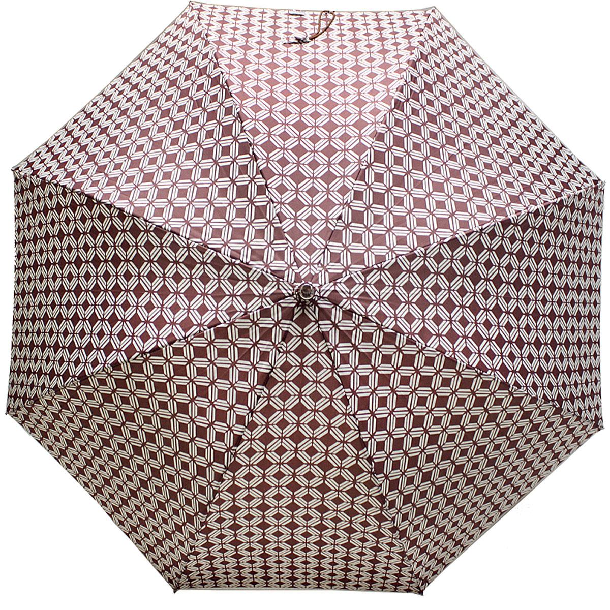 Зонт-трость женский Vogue, Автомат, цвет: коричневый. 124V-3124V-3Коллекция Vogue, отражающая самые последние тенденции в моде, очень удачно сочетается с практичностью и отличным качеством испанских зонтов, применение в производстве каркасов современных материалов уменьшает вес зонтиков и гарантирует надежность и качество. Рекомендации по использованию: Мокрый зонт нельзя оставять сложенным. Зонт после использования рекомндуется сушить в полураскрытом виде вдали от нагревательных приборов. Чистить зонт рекомендуется губкой, используя мягкие нещелочные растворы.