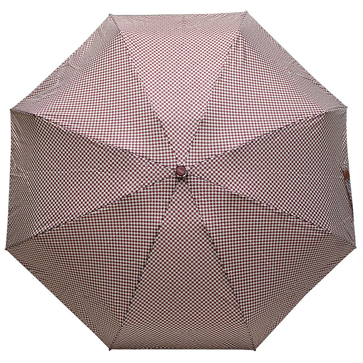 Зонт женский Vogue, цвет: бордовый, белый. 345V-4345V-4Стильный механический зонт испанского производителя Vogue оснащен каркасом с противоветровым эффектом. Каркас зонта включает 8 спиц. Стержень изготовлен из стали, купол выполнен из прочного полиэстера. Зонт является механическим: купол открывается и закрывается вручную до характерного щелчка. Такой зонт не только надежно защитит вас от дождя, но и станет стильным аксессуаром, который идеально подчеркнет ваш неповторимый образ. Рекомендации по использованию: Мокрый зонт нельзя оставлять сложенным. Зонт после использования рекомендуется сушить в полураскрытом виде вдали от нагревательных приборов. Чистить зонт рекомендуется губкой, используя мягкие нещелочные растворы.