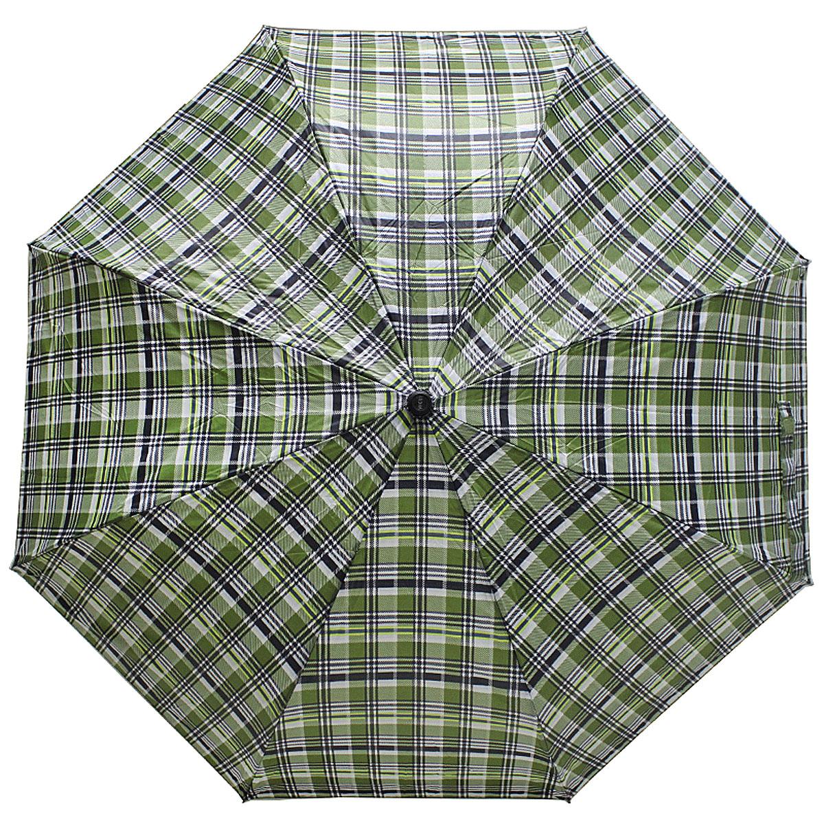 Зонт женский Vogue, цвет: зеленый. 448V-4448V-4Стильный механический зонт испанского производителя Vogue оснащен каркасом с противоветровым эффектом. Каркас зонта включает 8 спиц. Стержень изготовлен из стали, купол выполнен из прочного полиэстера. Зонт является механическим: купол открывается и закрывается вручную до характерного щелчка. Такой зонт не только надежно защитит вас от дождя, но и станет стильным аксессуаром, который идеально подчеркнет ваш неповторимый образ. Рекомендации по использованию: Мокрый зонт нельзя оставлять сложенным. Зонт после использования рекомендуется сушить в полураскрытом виде вдали от нагревательных приборов. Чистить зонт рекомендуется губкой, используя мягкие нещелочные растворы.