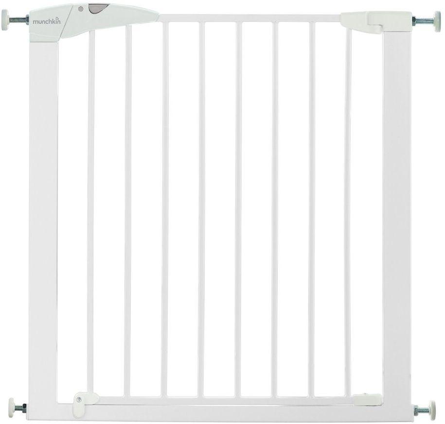Munchkin Ворота безопасности Maxi-Secure11446MUNCHKIN барьеры-ворота Maxi-Secure 75-82 см ; ; ; Дверное ограждение Munchkin поможет ограничить передвижения малыша, закрыв доступ к небезопасным для него местам. Характеристики: - не требует сверления, крепится на распорках. - калитка с механизмом открывания тройного действия. - ширина калитки регулируется от 75 до 82 см. - высота калитки - 75 см. - благодаря дополнительным секциям можно увеличить длину до 136 см.