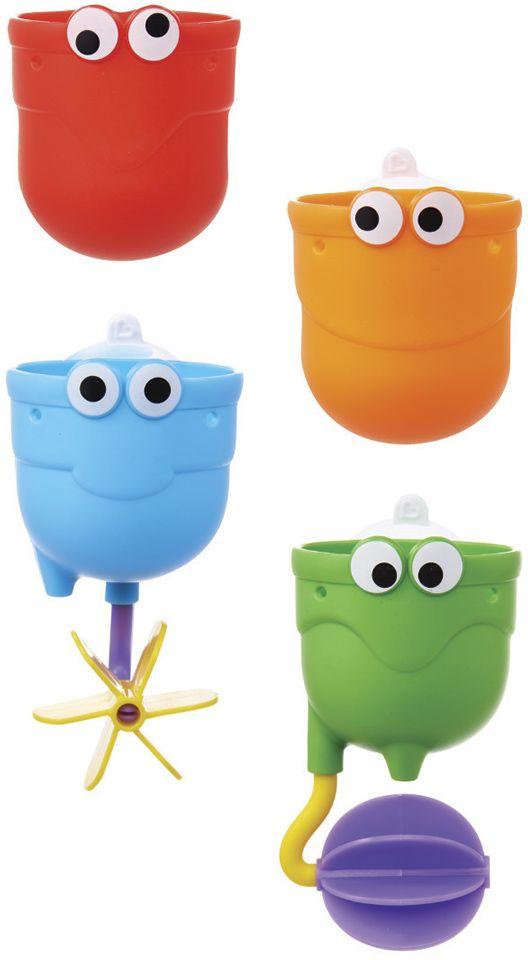 Munchkin Игрушка для ванной Водопад12311Игрушка для ванной Munchkin Водопад Устроить настоящий водопад в собственной ванной - легко! Купание станет гораздо веселее, если прикрепить над ванной красочные чашечки и следить, как через них замысловато переливается вода. Три чашечки из комплекта легко крепятся на стену с помощью специальной присоски, каждая из них имеет специальный подвижный элемент, который направляет струю воды и делает игру гораздо увлекательнее. Четвертая чашка предназначена для того, чтобы малыш зачерпывал ею воду. - удобная форма для маленьких ручек - игрушки можно установить по вертикали в одну линию, чтобы устроить непрерывный водопад, или разместить их так, чтобы вода стекала хаотично - крепятся на стену в ванной с помощью удобных присосок - способствуют развитию мелкой моторики, фантазии, логического мышления - знакомит малыша со свойствами окружающих его предметов - подходит для детей с 12 месяцев Миссия Munchkin, американской компании с 20-летней историей: избавить мир от надоевших и прозаических...