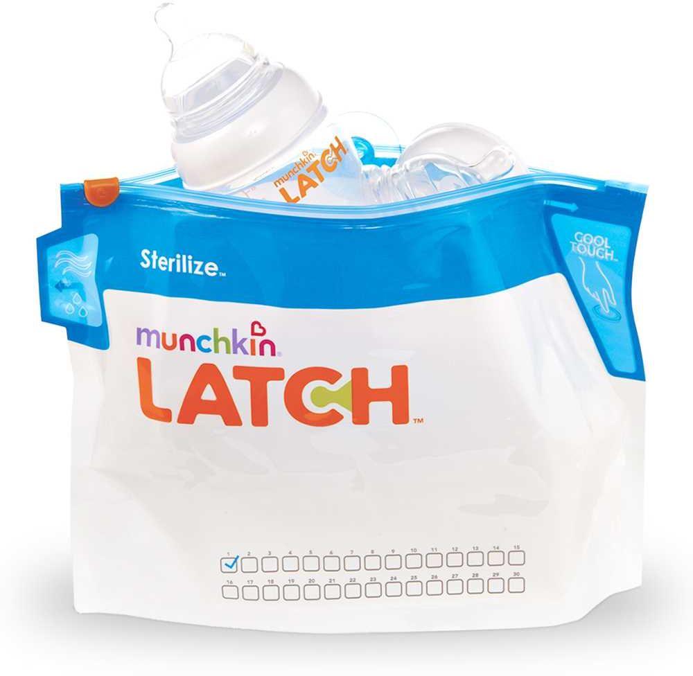 Munchkin Пакеты для стерилизации 6 шт11741Пакеты для стерилизации Munchkin Latch 6 штук Пакеты для стерилизации паром LATCH™ Sterilise™ от Munchkin позволяют быстро уничтожить до 99.9% бактерий на детских бутылочках, сосках, пустышках, зубных кольцах, маленьких игрушках и приспособлениях для грудного вскармливания. Для этого достаточно положить предметы в пакет, добавить воды и поместить в микроволновую печь. Вот и все - пакет наполнен паром для стерилизации. В упаковке 6 пакетов, каждый из которых можно использовать до 30 раз. На них изображена удобная сетка для пометок, которая поможет вам проследить, сколько раз вы уже использовали пакет. Для защиты от ожогов пакеты оснащены ручкой Cool-Touch™, которая остается холодной и позволяет легко переносить пакет и открывать его, чтобы выпустить пар.; - пар уничтожает до 99,9% бактерий - 6 пакетов, каждый из которых;можно использовать до 30 раз - удобная сетка для отметок об использовании пакета - в пакет помещаются 2 бутылки с широким горлышком или...
