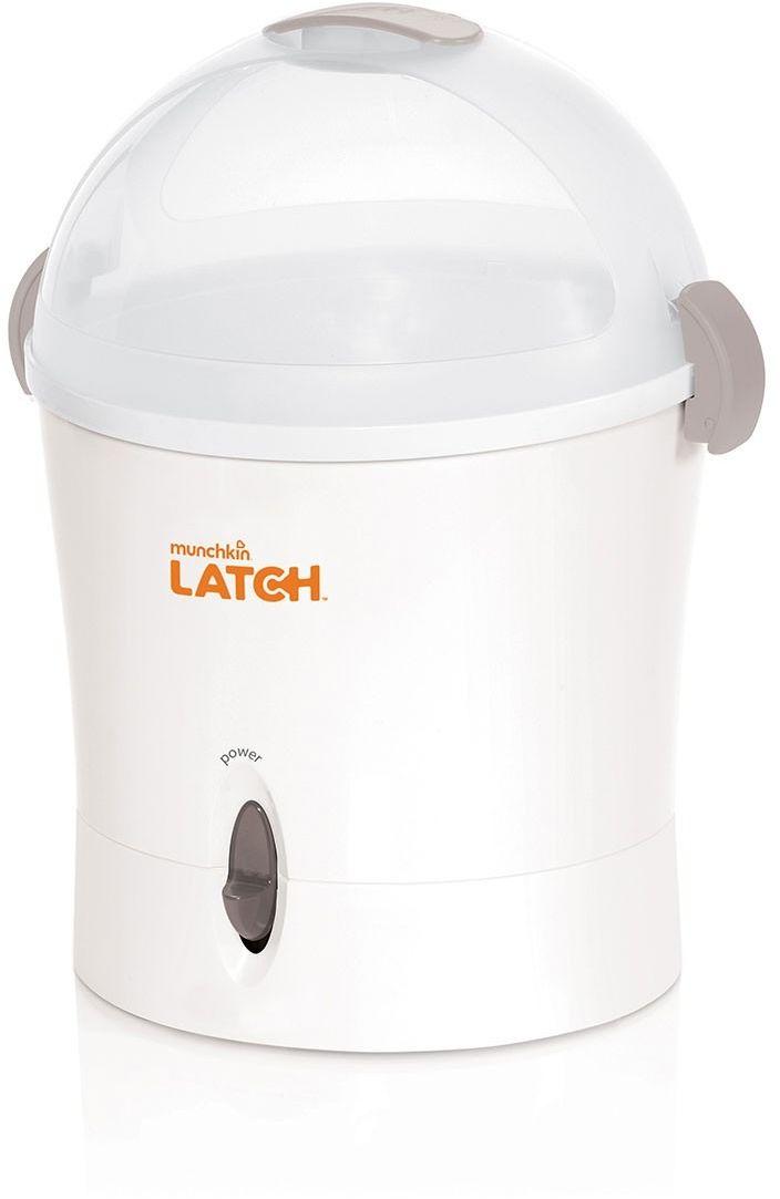 Munchkin Стерилизатор электрический1174401Комплект с электрическим стерилизатором Munchkin Latch В комплекте: - электрический стерилизатор - две бутылочки объемом 120 мл - 2 соски с медленным потоком - ершик для бутылочек Электрический стерилизатор - безопасно и эффективно уничтожает до;99.9% бактерий в бутылочках, сосках, пустышках, зубных кольцах, игрушках и накладках для груди - вмещает до 9 бутылочек и других детских принадлежностей одновременно - стерилизует за 6 минут - подставка стерилизатора регулируется в зависимости от размера бутылочек - автоматическое отключение после завершения сеанса стерилизации - технология безопасности Steam Guard - термочувствительная ручка отображает температуру крышки Бутылочка Новейшая разработка от Munchkin ;- эргономичная антиколиковая бутылочка с соской, максимально повторяющей форму материнской груди. Особое гибкое основание соски, напоминающее гармошку, позволяет держать бутылочку под углом, при этом ребенок комфортно себя чувствует во время кормления даже при смене положения тела....