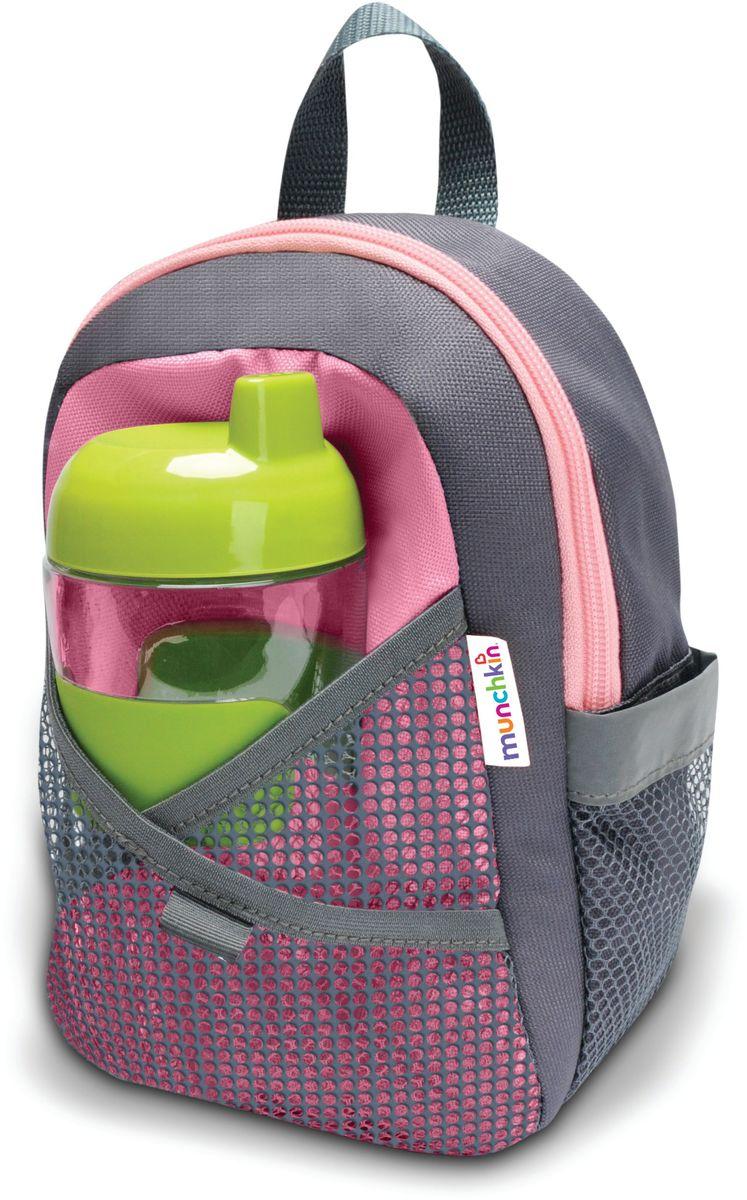 Munchkin Рюкзак детский со страховочным поводком 1204812048Детский рюкзачок со страховочным поводком Munchkin; Рюкзачок со страховочным поводком создан для детей, приучающихся к самостоятельности. Съемный ремешок крепится;к рюкзаку, позволяя родителям всегда контролировать ситуацию, а ребенку - чувствовать себя;свободно. Теперь каждая прогулка станет еще комфортнее, так как вам не нужно постоянно удерживать малыша за руку рядом с собой. Детский рюкзак достаточно вместительный: в него можно положить все, что понадобится ребенку на прогулке или в детском саду. А в специальный сетчатый кармашек удобно поставить напиток.; - регулируемые по размеру ремешки - удобная амортизирующая спинка - съемный амортизирующий ремень снижает силу натяжения при внезапных потягиваниях - поворотные зажимы не допускают скручивания ремня - кармашек для напитка - петелька для крепления игрушки -;размеры (ШхГхВ): 14х8х22 -;возраст: от 1 года до 4 лет ;