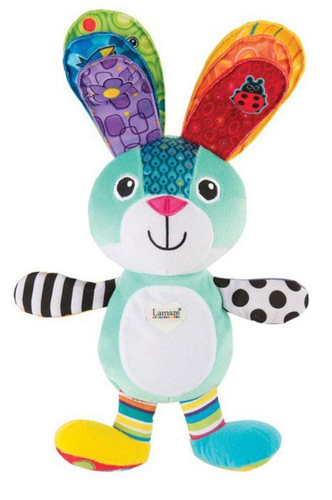 Tomy Развивающая игрушка Ученый заяц - изучаем цветаLC27328Ученый зайка поможет малышу выучить цвета во время игры. Игрушка оснащена различными звуковыми и световыми эффектами: если нажать на одно ушко, у зайчика засветится животик, и он произнесет название соответствующего цвета. Нажмите на оба ушка одновременно и вы услышите забавную мелодию, которая развеселит малыша, при этом животик зайчика будет светиться разными цветами. Игрушку можно использовать в качестве ночника: просто нажмите на лапку зайчика для перевода в ночной режим работы.