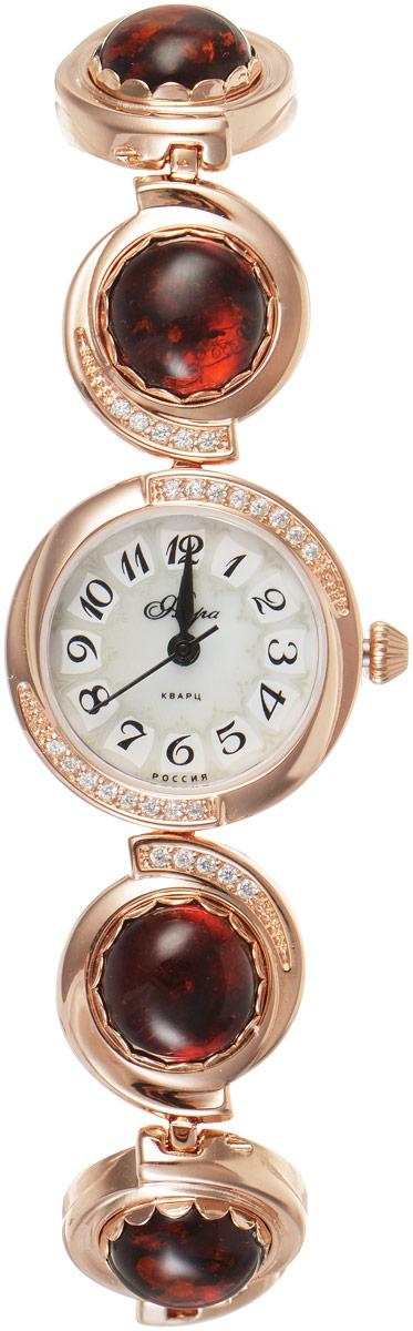 Zakazat.ru: Часы женские наручные Mikhail Moskvin Флора, цвет: золотистый. Часы с янтарем Ярослава 1138B8K-B1