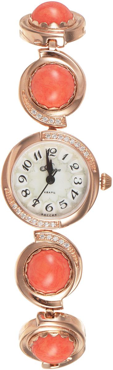 Часы женские наручные Mikhail Moskvin Флора, цвет: золотистый. 1138B8B1 Коралл1138B8B1 КораллЧасы Mikhail Moskvin серии Флора в ювелирном исполнении комплектуются натуральными камнями(Коралл ).