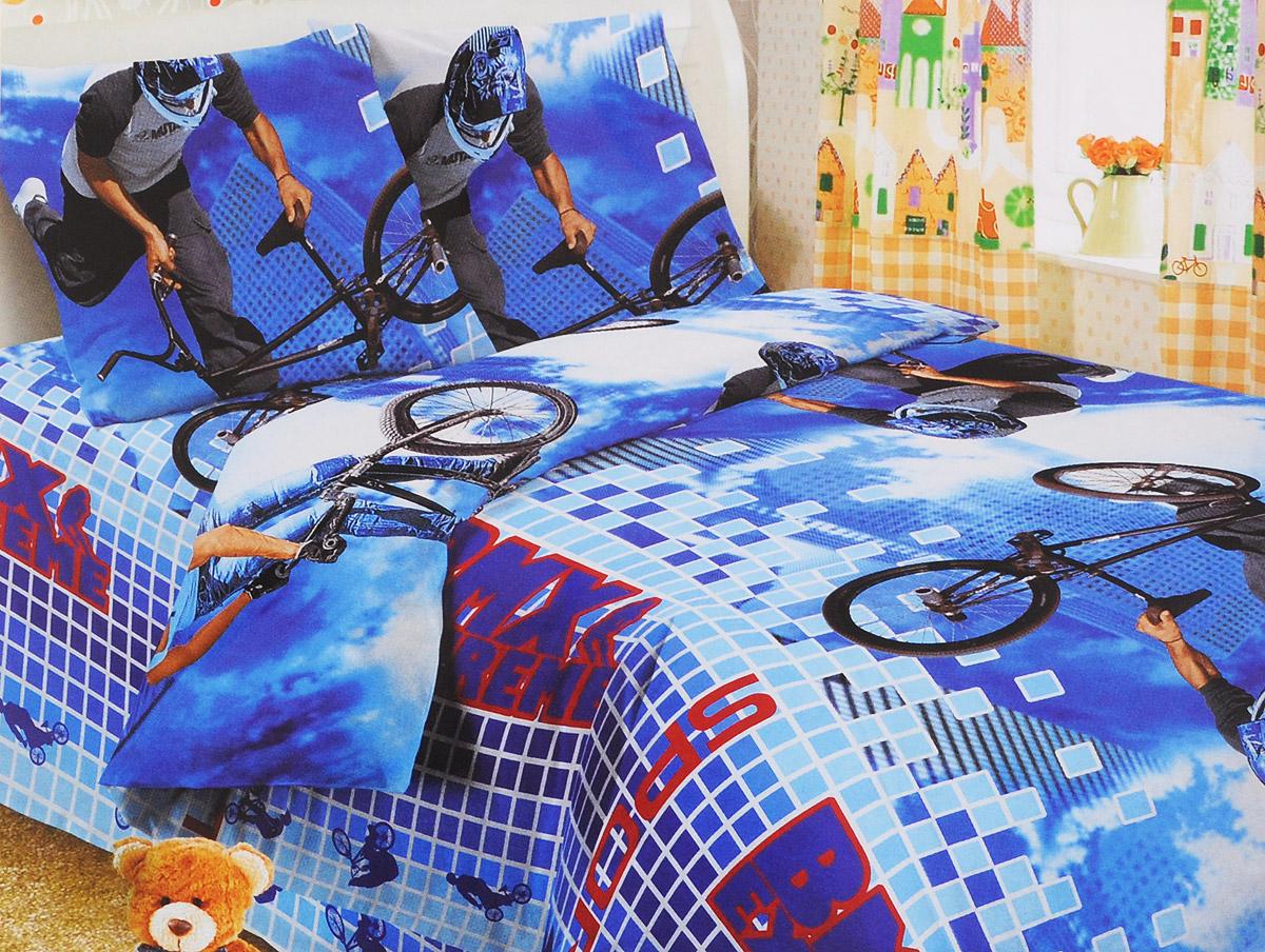 Letto Комплект детского постельного белья BMXbmx50Letto.kids - это веселые детские и подростковые дизайны, в хлопковом исполнении с хорошими устойчивыми красителями и все это по очень доступной цене! Такое белье прослужит долго и выдержит много стирок. Рисунок на наволочке может отличаться от представленного на фото. Пододеяльник 143х215 см, простынь 148х215 см, наволочка 50х70 см