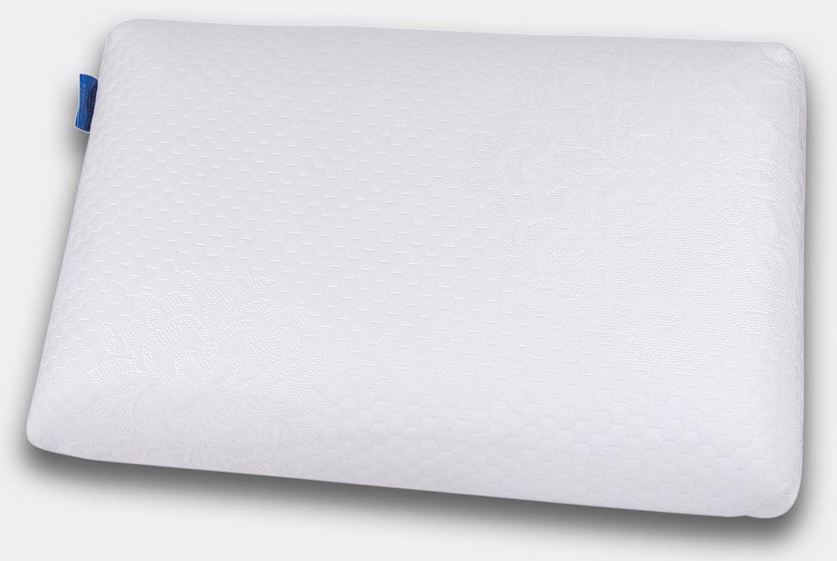 Подушка ортопедическая IQ Sleep Cool Feel, с эффектом памяти, L 140 x 380 x 580 мм18222Анатомическая супер комфортная подушка COOL FEEL L создана на основе анатомической пены с эффектом памяти Cool Feel для упругой, но нежной поддержки головы и шеи, ощущения приятного охлаждения и великолепного комфорта во время сна. COOL FEEL не требует наличия специальных валиков для поддержки шеи и предназначена для: - обеспечения естественного положения и полноценного отдыха шеи и головы - профилактики спазма затылочных мышц и шеи - улучшения кровоснабжения головного мозга и стимулирования работы мозга - снятия зрительной нагрузки и профилактики близорукости - профилактики инсульта в вертебро-базилярной системе - улучшения сна - профилактики общего стресса организма COOL FEEL удобна в использовании. В отличие от обычных подушек, она не теряет форму и поддерживает голову и шею в течение всей ночи. Подходит для взрослых и детей от 4 лет: - для людей, которые предпочитают спать на спине, на...