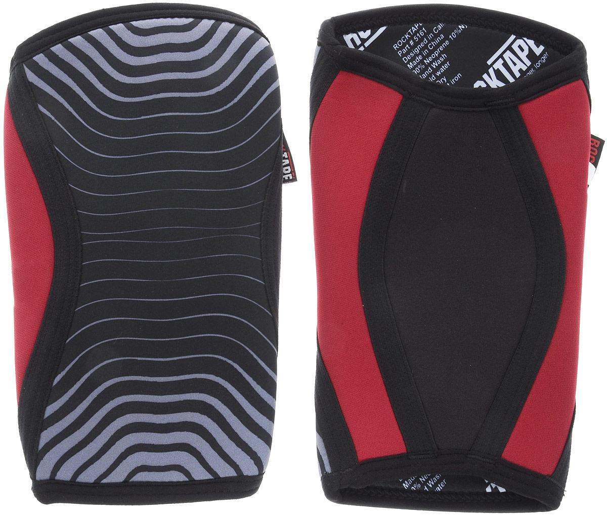 Наколенники Rocktape KneeCaps, цвет: красный, серый, черный, толщина 7 мм. Размер SRTKnCps-Rd-7-SRocktape KneeCaps - это компрессионные наколенники для тяжелой атлетики/CrossFit. Наколенники созданы специально, чтобы обеспечить компрессионный и согревающий эффект, а также придать стабильность коленному суставу для выполнения функциональных движений, таких как становая тяга, пистолет, приседания со штангой. В отличие от аналогов, наколенники Rocktape KneeCaps более высокие и разработаны специально для компрессии VMO (косой медиальной широкой мышцы бедра) в месте ее прикрепления над коленной чашечкой, чтобы обеспечить надлежащую стабилизацию колена и контроль. Помимо стабилизации, они создают компрессионный и согревающий эффект, что улучшает кровоток. Толщина: 7 мм. Обхват колена: 28-34 см.