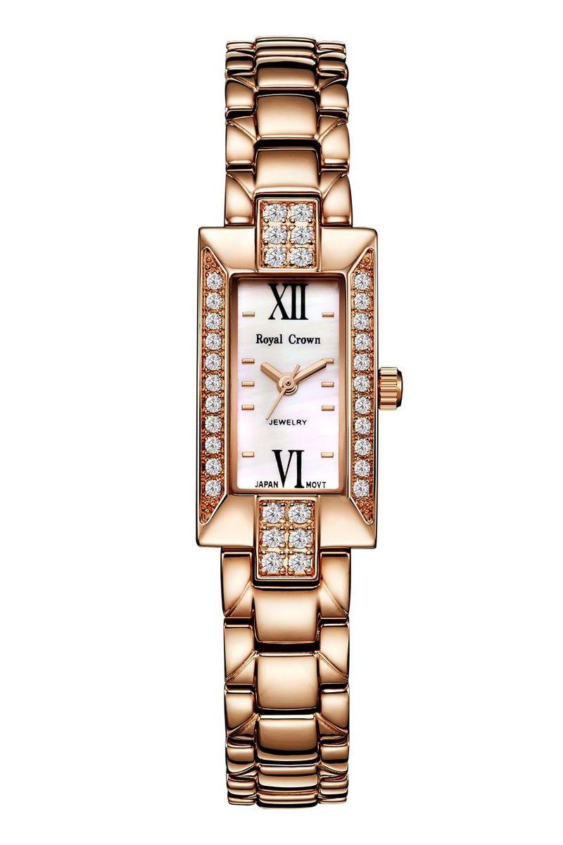 Часы наручные женские Royal Crown, цвет: золотой. 3591-RSG-63591-RSG-6Royal Crown- воплощение безукоризненного стиля и надежности.Это изысканный итальянский дизайн,высококачественные механизмы.