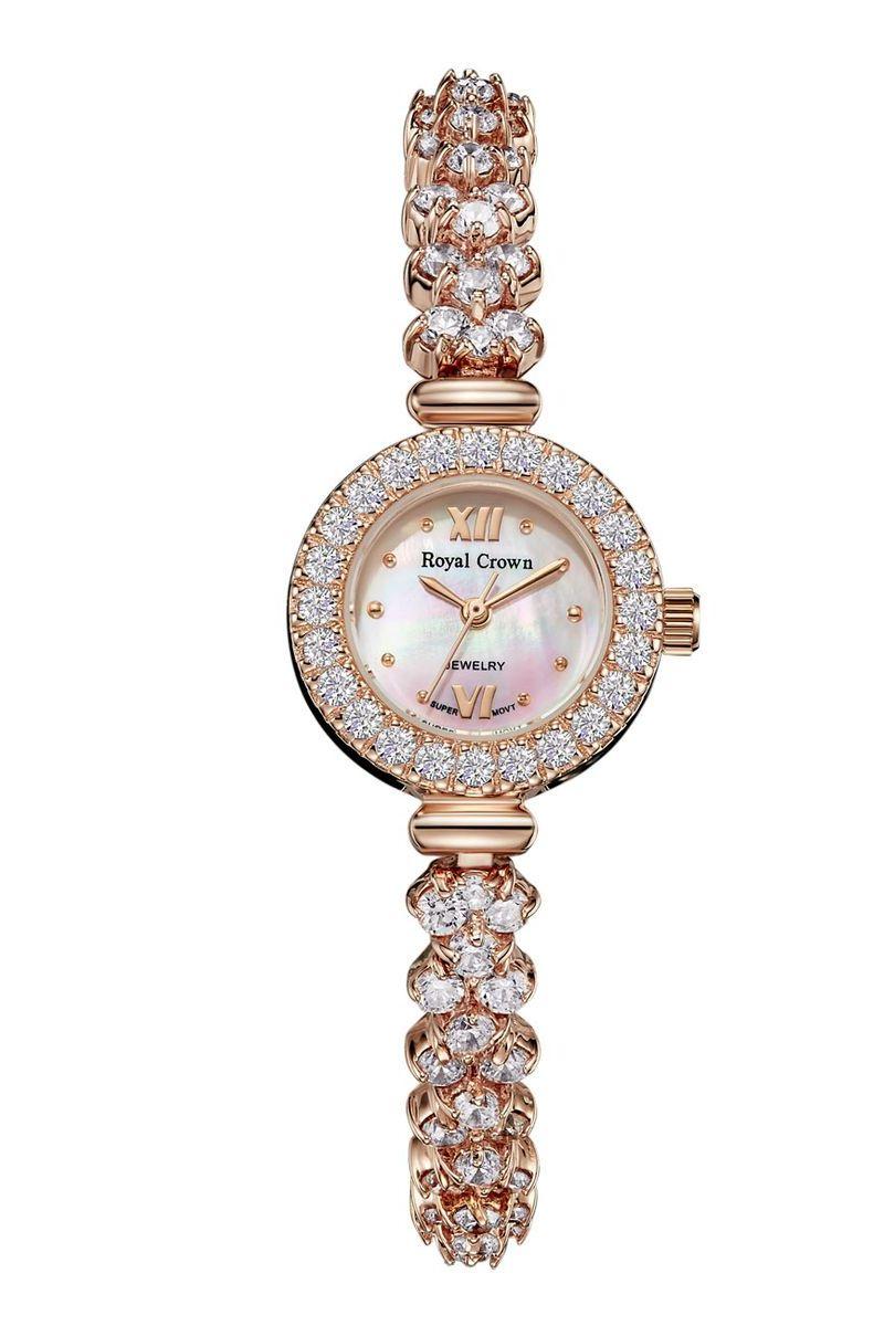 Часы наручные женские Royal Crown, цвет: золотой. 5266-RSG-55266-RSG-5Royal Crown- воплощение безукоризненного стиля и надежности.Это изысканный итальянский дизайн,высококачественные механизмы.