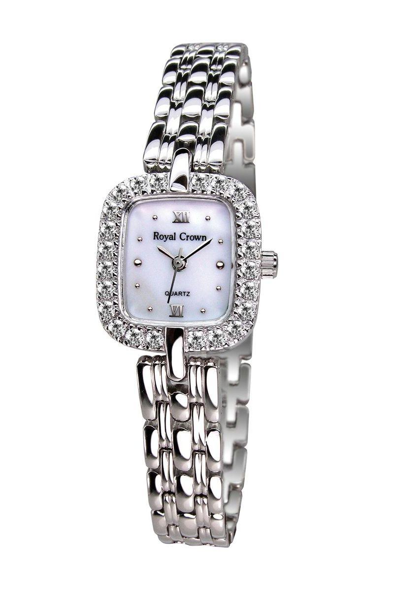 Часы наручные женские Royal Crown, цвет: серебристый. 3603-RDM-63603-RDM-6Royal Crown- воплощение безукоризненного стиля и надежности.Это изысканный итальянский дизайн,высококачественные механизмы.