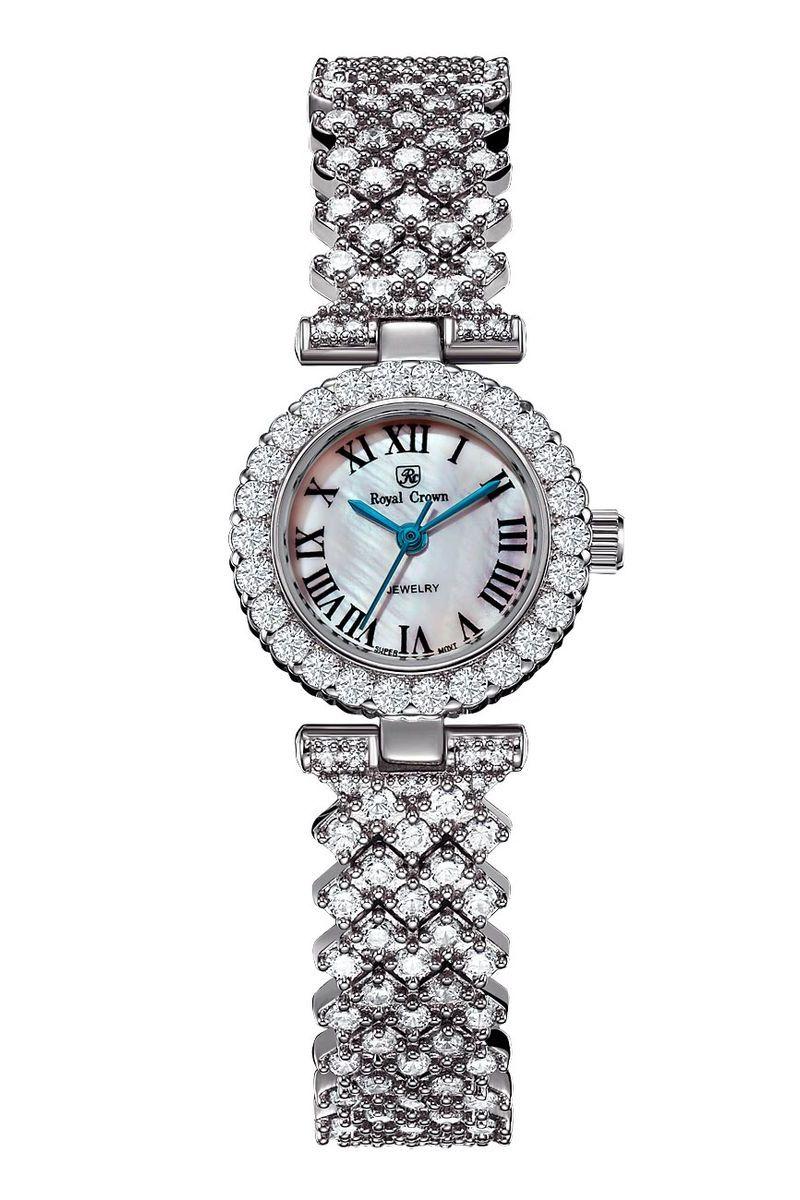 Часы наручные женские Royal Crown, цвет: серебристый. 6305-RDM-56305-RDM-5Royal Crown- воплощение безукоризненного стиля и надежности.Это изысканный итальянский дизайн,высококачественные механизмы.