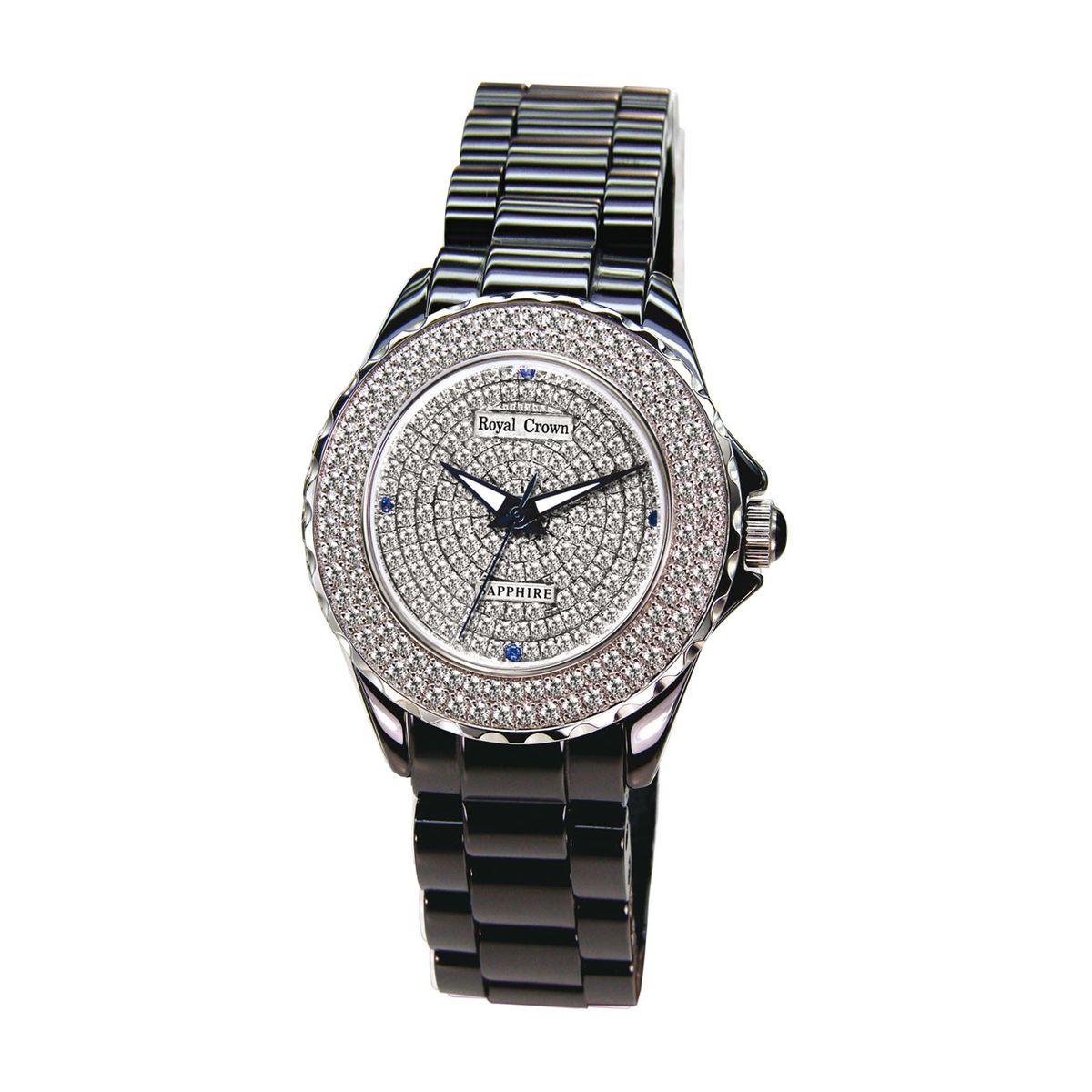 Часы наручные женские Royal Crown, цвет: черный. 3821L-1-RDM-83821L-1-RDM-8Royal Crown- воплощение безукоризненного стиля и надежности.Это изысканный итальянский дизайн,высококачественные механизмы.