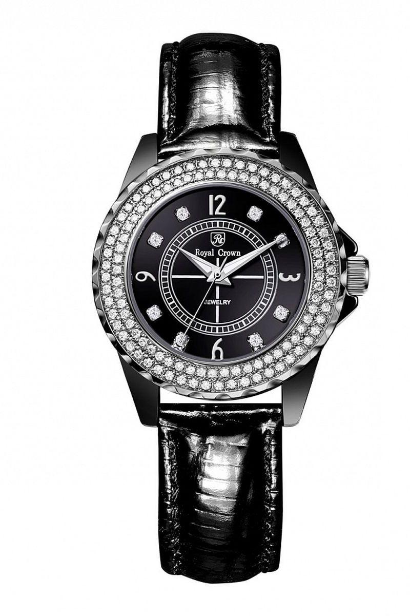 Часы наручные женские Royal Crown, цвет: черный. 3821L-2-RDM-13821L-2-RDM-1Royal Crown- воплощение безукоризненного стиля и надежности.Это изысканный итальянский дизайн,высококачественные механизмы.